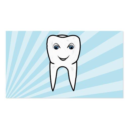 tarjetas de visita simples de la odontología