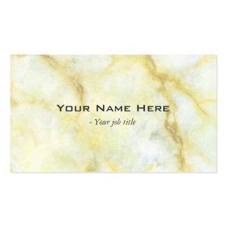 Tarjetas de visita simples de piedra de mármol