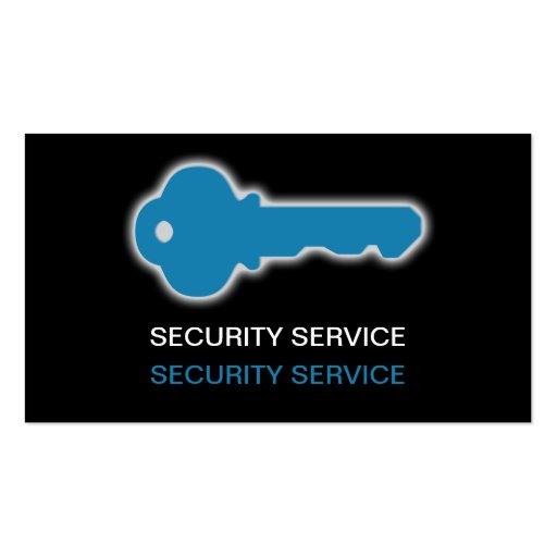 Tarjetas de visita simples de seguridad