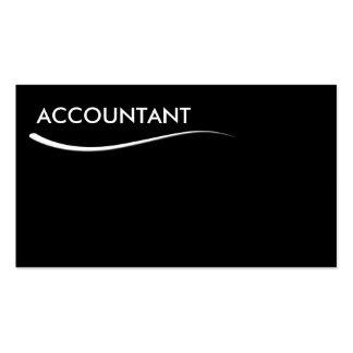 Tarjetas de visita simples del contable