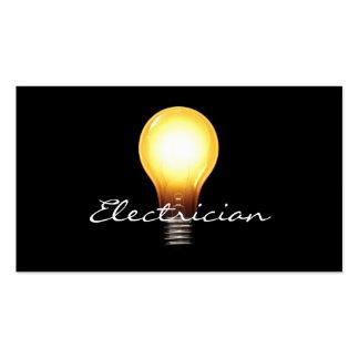 Tarjetas de visita simples del electricista