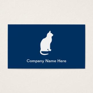 Tarjetas de visita simples del gato