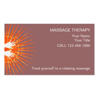 Tarjetas de visita simples del masaje