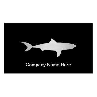 Tarjetas de visita simples del tiburón