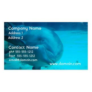Tarjetas de visita sonrientes del delfín