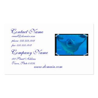 Tarjetas de visita subacuáticas de la pastinaca