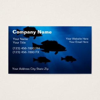 Tarjetas de visita subacuáticas de la pesca