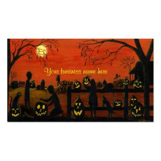 Tarjetas de visita temáticas de Halloween