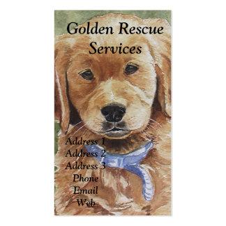 Tarjetas de visita temáticas del golden retriever