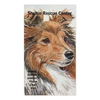 Tarjetas de visita temáticas del perro pastor de S