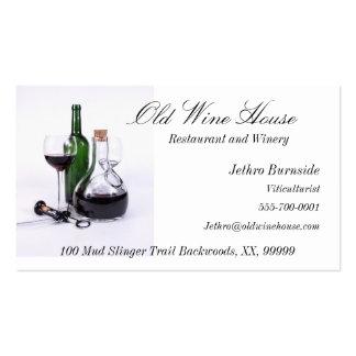 Tarjetas de visita temáticas del vino