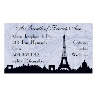Tarjetas de visita temáticas francesas de París