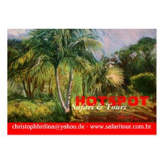 Tarjetas de visita tropicales