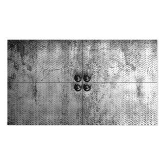 Tarjetas de visita urbanas de la mirada del metal