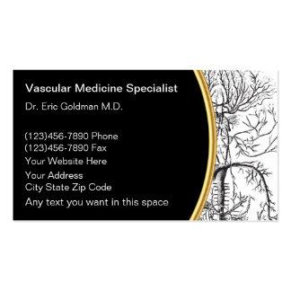 Tarjetas de visita vasculares de la medicina