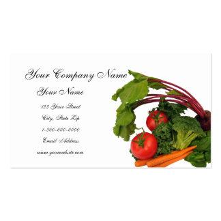 Tarjetas de visita vegetales mezcladas