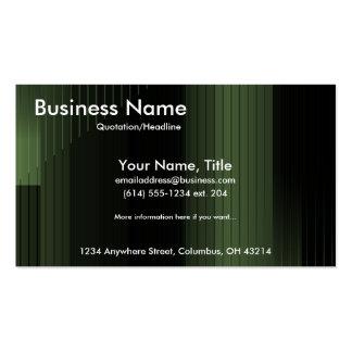 Tarjetas de visita verdes de las rayas del negocio