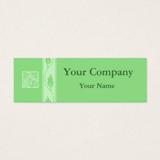 Tarjetas de visita verdes profesionales de la hoja