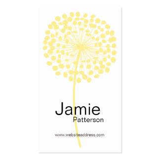 Tarjetas de visita verticales de la flor amarilla