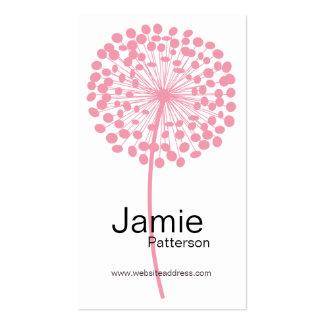 Tarjetas de visita verticales de la flor rosada de