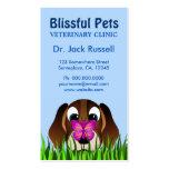 Tarjetas de visita veterinarias lindas del perro d