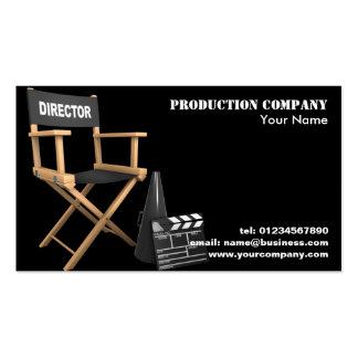 Tarjetas de visita video de la producción