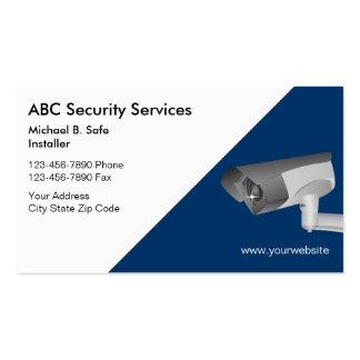 Tarjetas de visita video de seguridad