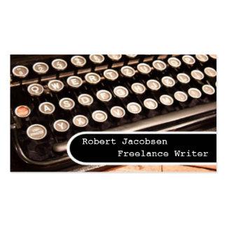 Tarjetas de visita viejas del escritor free lance