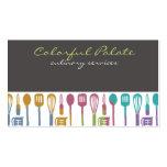 tarjetas de visitas culinarias del cocinero de los