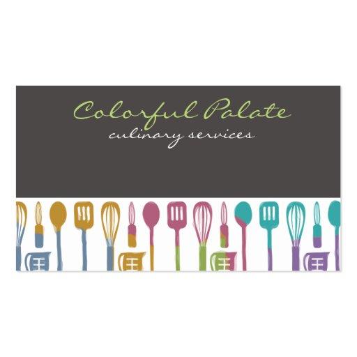 tarjetas de visitas culinarias del cocinero de los plantillas de tarjeta de negocio
