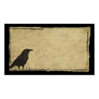 Tarjetas de visitas remilgadas de apenas un cuervo tarjetas de visita