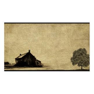 Tarjetas de visitas remilgadas de la granja vieja tarjetas de visita