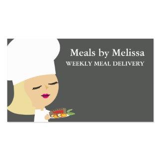 Tarjetas de visitas rubias lindas de la cena del tarjetas de visita
