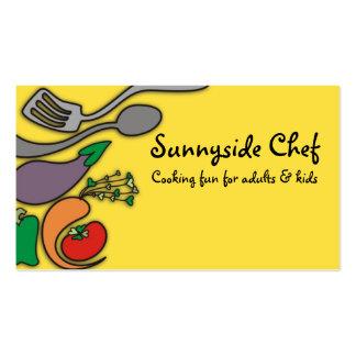 Tarjetas de visitas vegetales amarillas soleadas tarjetas de visita