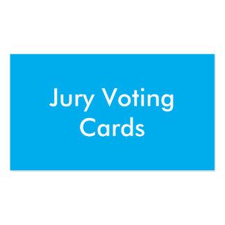 Tarjetas de votación del labor del jurado tarjetas de visita