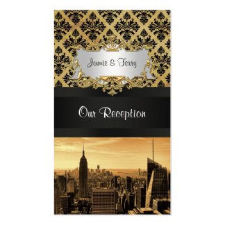 Tarjetas del acompañamiento del damasco de la tarjetas de visita