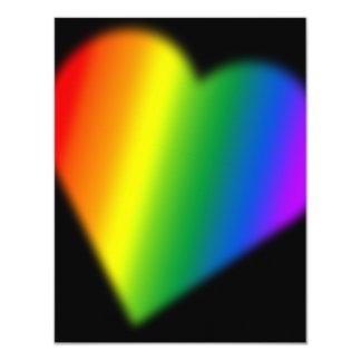 Tarjetas del amor del arco iris de las invitacion personal