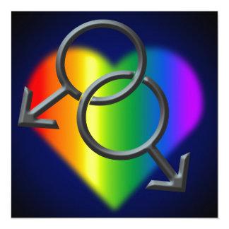Tarjetas del amor del arco iris de las comunicados personales
