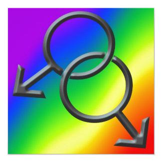 Tarjetas del amor del arco iris de las invitacion personalizada