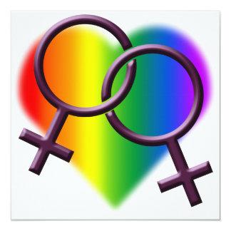 Tarjetas del amor del arco iris de las comunicado