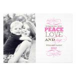 Tarjetas del amor y de la alegría de la paz anuncio