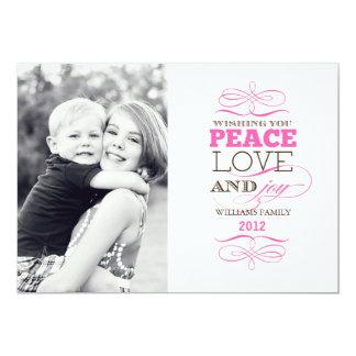 Tarjetas del amor y de la alegría de la paz invitación 12,7 x 17,8 cm
