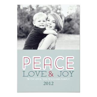 """Tarjetas del amor y de la alegría de la paz invitación 5"""" x 7"""""""