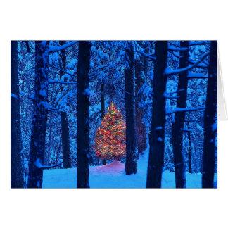 Tarjetas del árbol de navidad