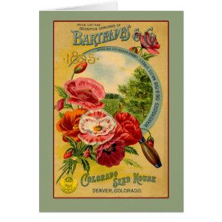 Tarjetas del arte de Barteldes Colorado Seed Compa
