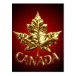 Tarjetas del arte de la bandera de Canadá de las Postales