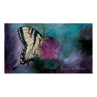 Tarjetas del arte de la mariposa de la belleza tarjetas de visita