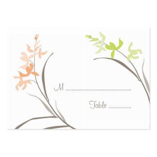 Tarjetas del asiento de la tabla del boda de la or tarjetas de visita grandes