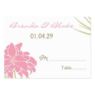 Tarjetas del asiento de la tabla del boda - lirio  tarjetas de visita grandes