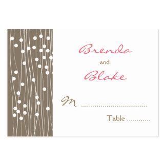Tarjetas del asiento de la tabla del boda - puntos tarjetas de visita grandes